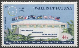 WALLIS AND FUTUNA 1972 Sc C39  MNH 44f  VF South Pacific Commission Building