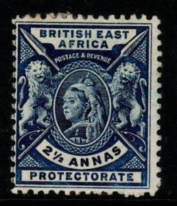 BRITISH EAST AFRICA SG68 1896 2½a DEEP BLUE MTD MINT