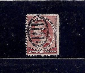 Large US Banknote Stamp w/a Bold SCARAB Fancy Cancel ~ Always Free Shipping