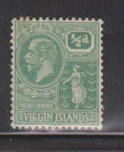 VIRGIN ISLANDS Scott # 53 MH - KGV & Seal Of Colony
