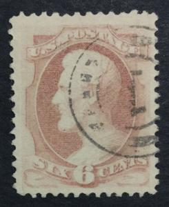 MOMEN: US #186 USED VF/XF $60 #23423