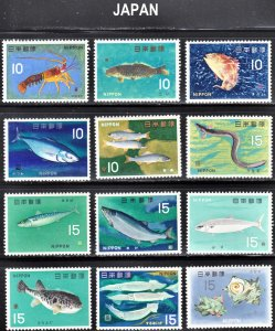 Japan Scott 860-71 complete set F to VF mint OG NH.