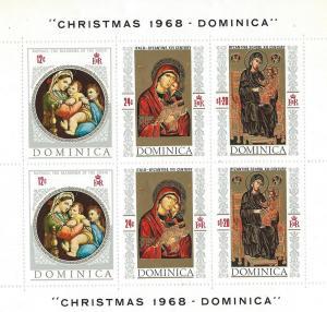 Dominica #241a 1968 Christmas Souvenir Sheet (MNH)  CV $6.00
