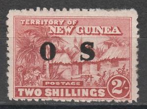 NEW GUINEA 1925 HUT OS 2/- MNH **