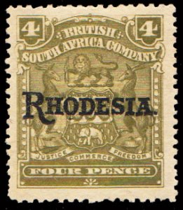 Rhodesia Scott 87 Unused hinged.