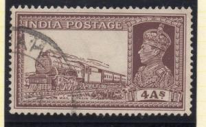 India 1937 Early Issue Fine Used 4a. 050734