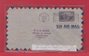 50c single use Parliament Buildings to COLOMBIA 1937 50c per half ounce airmail