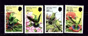 British Virgin Is 422-25 MNH 1982 Hummingbirds