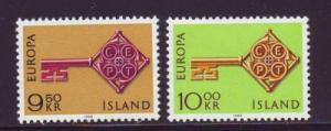 Iceland Sc 395-6 1968 Europa stamps NH