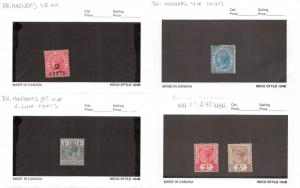 Lot of 17 British Honduras Mixed Condition Stamps Range # 4 - 114 #139837 R