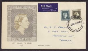 New Zealand O111 Official 1963 Pen FDC