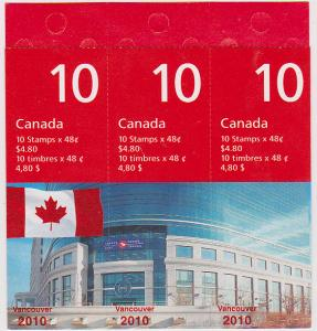 Canada USC #BK251Aa Cat. $60.00 VF-NH 2003 Vancouver 2010 Booklet of 30 -