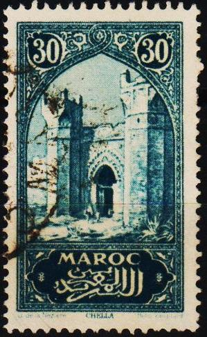 Morocco(French). 1917 30c S.G.133 Fine Used