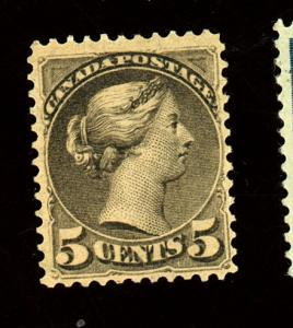 Canada #42 MINT F-VF No gum Full offset on back Cat $230