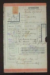 Serbia 1913 Railway Bill Speed Train 20 Para Revenue Stamp  C1