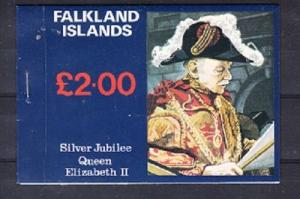 Falkland Islands Scott 254a-256a Mint NH booklet (Catalog Value $20.50)