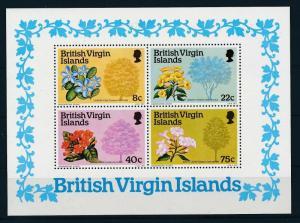 [18467] British Virgin Islands 1978 Flowers Souvenir Sheet MNH