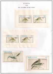 SCOTLAND - STAFFA - 1982 - Birds #11 - Perf, Imp 2v, Souv, D/L Sheets - MLH