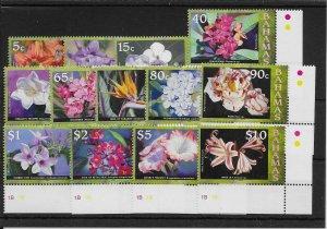 BAHAMAS SG1494/505 2008-9 FLOWERS DEFINITIVE SET MNH
