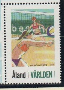 Aland Finland Sc  321 2011 Beach Volleyball stamp mint NH
