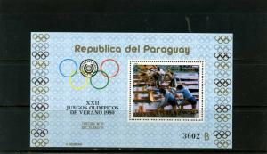 PARAGUAY 1979 Sc#C472 SUMMER OLYMPIC GAMES MOSCOW S/S MNH