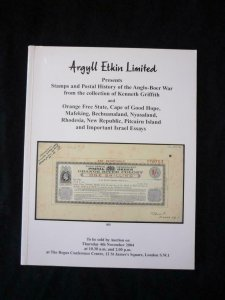 ARGYLL ETKIN AUCTION CATALOGUE 2004 ANGLO-BOER WAR 'KENNETH GRIFFITH' COLLECTION