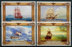 Pitcairn Islands Ships Stamps 2019 MNH Paintings of HMAV Bounty Art Boats 4v Set