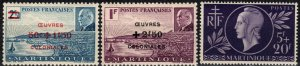 Martinique #B10A-B10B, B11 MNH CV $3.15 (X5663)