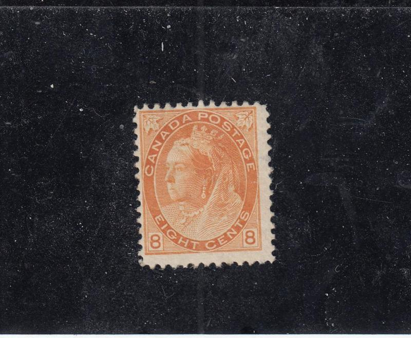 CANADA # 82 FVF-MH QUEEN VICTORIA 8cts NUMERAL ISSUE CAT VALUE $200+