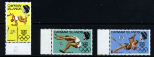 CAYMAN ISLANDS QE II 1968 Olympic Games Set SG 212 to SG 214 MNH