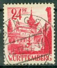 Germany - French Occupation - Wurttemberg - Scott 8N8