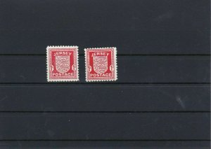 Jersey 1941-44 MNH Stamps Ref: R4425