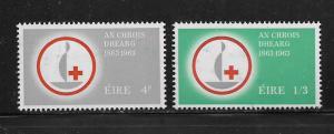 IRELAND,190-191, MINT HINGED, RED CROSS