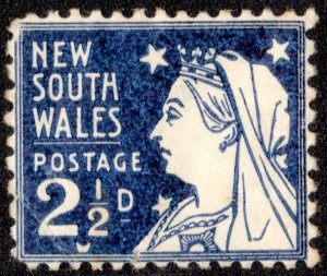 New South Wales Scott 104 Unused with hinge remnant.