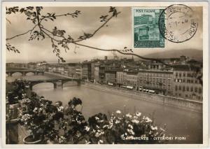 57358 -  ITALY - POSTAL HISTORY: MAXIMUM CARD 1954 - ARCHITECTURE