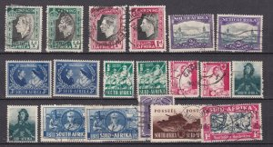 SOUTH AFRICA  ^^^^^^1933-48 used  collection  $$@ lar5559saa