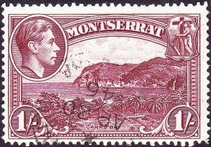 MONTSERRAT 1942 KGVI 1/- Lake SG108a FU