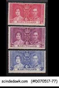 BASUTOLAND - 1937 KGVI CORONATION - 3V - MINT NH