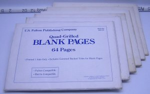 NEW - (6 Packages) Quad-Grilled Blank Pages Will Fit Harris Album/64 pages
