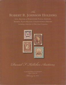 Robert L. Johnson holding, Postal History, Stamps, Plate Blocks. 2013 Kelleher
