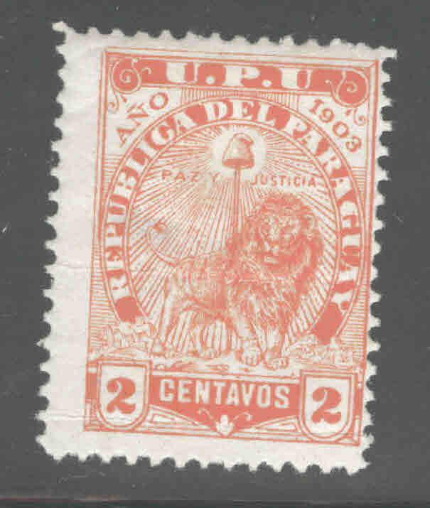 Paraguay Scott 85 MH* 1903 creased thinned