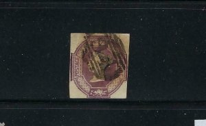GREAT BRITAIN SCOTT #7  1854 EMBOSSED 6 PENCE (RED VIOLET) - USED