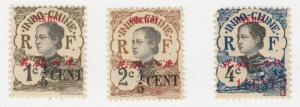 France-Offices in China-Pakhoi - 1919 - SC 52-54 - LH