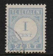 Netherlands 1912  used  postage due  1 cent   #