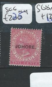 MALAYA JOHORE (P0510B) 2C QV SG 6   MOG