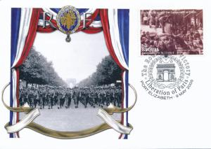[96867] Bequia 2005 WWII Liberation Paris Special Cachet Cover