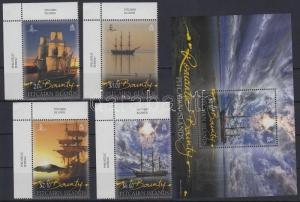 Pitcairn Islands stamp The Bounty sailing ship margin set + block MNH WS123682