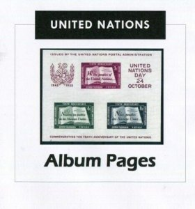 United Nations CD-Rom 1951-2017 Color Illustrated Album Pages