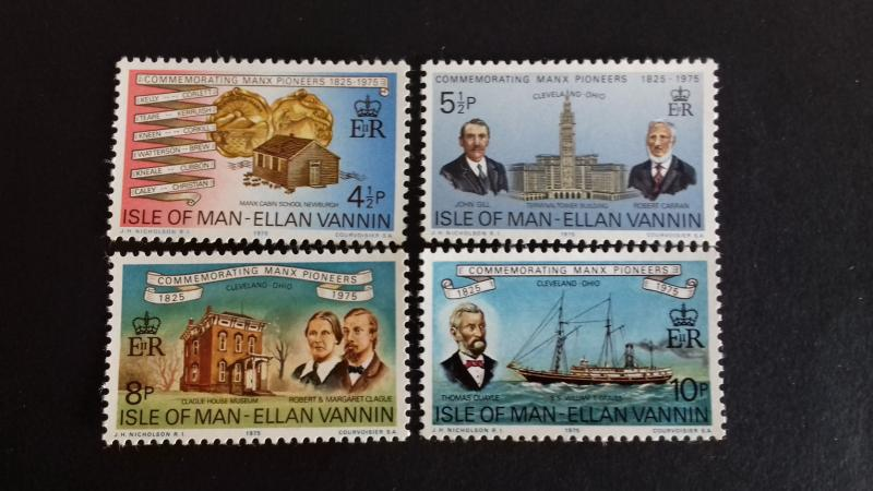 Isle of Man 1975 Commemorating Manx Pioneers, 1825-1975 Mint
