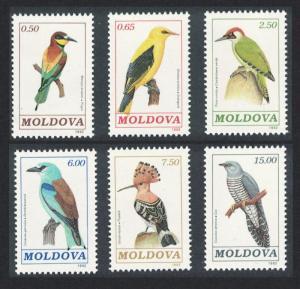 Moldova Birds 6v issue 1992 SG#19-24 MI#14-19 SC#31-36